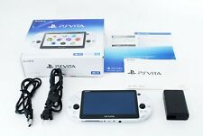 Sony PS Vita Glacier White PCH-2000 w/ Charger + Box From Japan [Near Mint]
