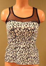 Oboe Mesh Racerback Fashion Tiered Tank Top - Junior XS - NWD