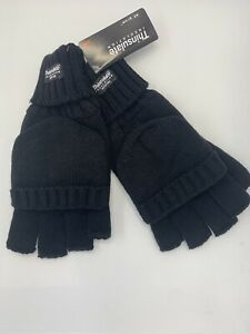 NEW MENS/WOMEN THERMAL THINSULATE FREEDOM MITTENS OR FINGERLESS ALL IN 1 GLOVES