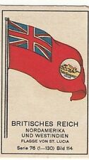 N°114 DRAPEAU FLAG NORTH AMERICA ST LUCIE LUCIA GREAT BRITAIN UK IMAGE CARD 30s