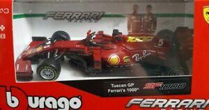 FERRARI 1/43 BBURAGO SPECIAL COLOR 1000 GP VETTEL 2020 F1 TOSCANA