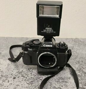 Canon T60 35mm Camera Body Only Untested -