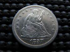 Choice 1857-o XF-AU Seated Quarter
