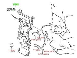 Toyota Rav4 Scion tC 2AZFE Front Engine Timing Cover Genuine OEM