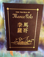 THE TRAVELS OF MARCO POLO Bound in Genuine Leather The Easton Press 1962 Unread