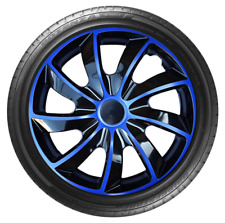 "4x Wheel Covers Hub Caps 14Inch Universal Wheel Trims ABS 14"" Trim [STIG Blue]"