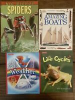 Children Science Books Lot Of 4 Weather Life Cycle Spiders Homeschool Teacher