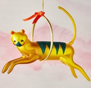 NWT De Carlini Tiger Circus Christmas Ornament made in Italy
