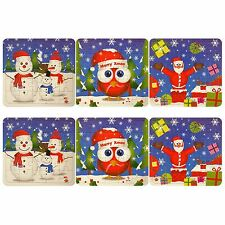 6 Boys Girls Christmas Puzzles Xmas Kids Stocking Party Bag Fillers
