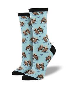 Significant Otter Socks -Blue Chalk SockSmith Cotton Crew