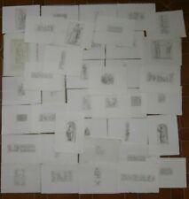 40 antiche incisioni originali Giovanni Francesco Ferrero metà 800