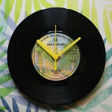 "Rod Stewart ""Sailing"" Retro Chic 7"" Vinyl Record Wall Clock"