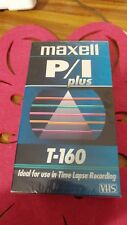 Maxell T-160 PROFESSIONAL-VIDEO TAPE 160 MIN 1PK VHS BRAND NEW unopened