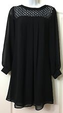 "NEW SIMPLY STUNNING ""WALLIS"" EMBROIDERED CHIFFON PLEATED TUNIC TOP DRESS SIZE 8"