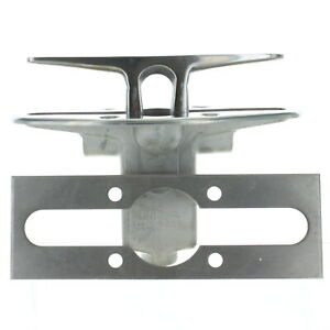 """Attwood Marine Stainless Steel 6"""" Pull Up Cleat w/ Backer 4 Counter Sunk Flush"""