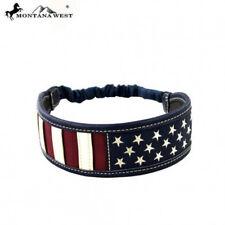 Montana West American Flag Headband Stars Stripes Elastic Stretch Western Hair