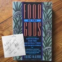Autographed Signed Terence Mckenna Food Of The Gods Hermes Occult Esoteric