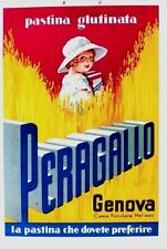 Original vintage poster PERAGALLO ITALY PASTA c.1930 Cardboard