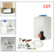 UTV Car Windshield Washer Bottle with 12V  Pump Reservoir Kit 12V Washer Flui