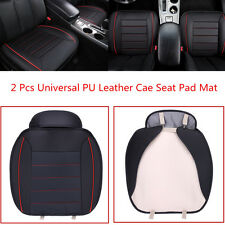 2 Pcs Comfortable Auto Car Chair Cover Full Surround Seat Pad Cushion PU Leather