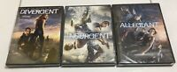 The Divergent Series: 3-Film Collection (DVD, 2017, 3-Disc Set) Brand New SET