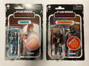 Star Wars THE MANDALORIAN $ CARA DUNN RETRO COLLECTION 3&3/4 In Hand MOC New