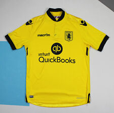 Aston Villa 2015 - 2016 Away Football Shirt Jersey Yellow (size M*)