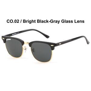 Wiesmann Polarized Sunglasses  3016  BLACK / G-15 GLASS LEN- Ray-Ban like style