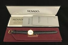 Movado Gentry Swiss Moon Phase GP Vintage Watch 87-03-822 with Box & Papers