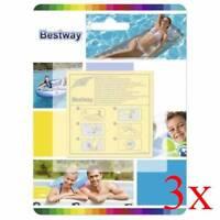 3Pcs Bestway Heavy Duty Repair Patch Emergency Kit for Air Bed Mattress Pool