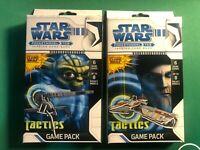 2 x Star Wars Pocketmodel TCG Clones Wars Tactics Games Packs