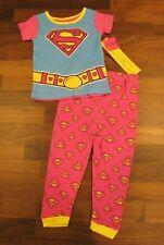 Supergirl Pajamas Toddler Size 2T Short Sleeve PJ Set New