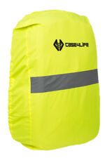 Yellow Waterproof Backpack Rucksack Cover Cycling Running Safety High Viz