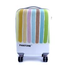Valigia trolley viaggio travel Pantone unisex rigida righe colorate rotelle