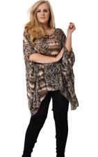 Maglie e camicie da donna senza marca fantasia stampa animalier in poliestere