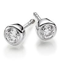 Ohrstecker Ohrringe mit Diamant Brillant 0,50ct. Solitär rund 750 Gold Weißgold
