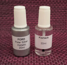 Lackstift-Set Ford Polarsilber metallic, 20ml Basislack + 20ml Klarlack