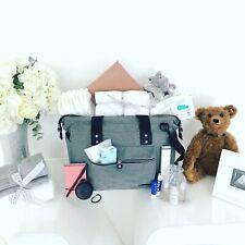 Luxury grey pre-packed hospital/maternity/change bag mum & newborn baby shower