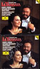 Cheryl Studer SIGNED Verdi La traviata Luciano Pavarotti Juan Pons Levine DG 2cd