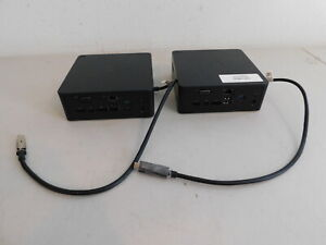 Lot of 2 Dell K16A K16A001 Thunderbolt Docking Station 03V37X No Power Adapter