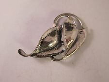 VINTAGE !940'S STERLING Art Deco Ivy Leaves BROOCH BY JEWELART