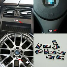 10x M Power Sports Performance Badge Alloy Wheel Sticker Emblem Decal For BMW