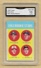 Pete Rose - 1963 Topps Rookie Reprint # 537 RC RP GRADED GMA GEM MINT 10