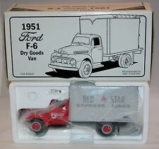 """First Gear Camion Ford F-6 1951 """" Red Star"""" Express Lines Neuf en boîte (# A11)"""