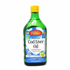 Cod Liver Oil (Lemon) by Carlson - 500 Mililiters