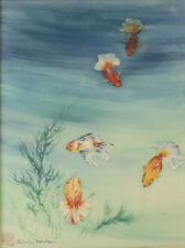 Shirley Rencher (American 20th Century) Japanese style brush painting on silk