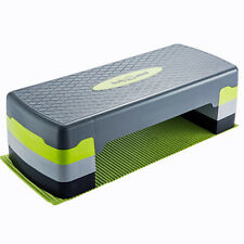 Aerobic Step Board Elite + Free Mat - 3-level height - Fitness Stepper Platform