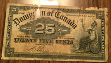 1900 Dominion of Canada 25 cents Paper bill money