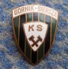 GORNIK SIERSZA POLAND FUSSBALL FOOTBALL SOCCER 1970's BIG BRONZE PIN BADGE