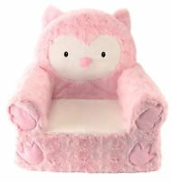 Sweet Seats Adorable Pink Owl Children's Chair Ideal for Children Ages 2 and up,